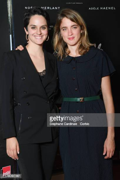 Actresses Noemie Merlant and Adele Haenel attend the Premiere of 'Portrait de la Jeune Fille En Feu' at UGC Les Halles on September 16 2019 in Paris...