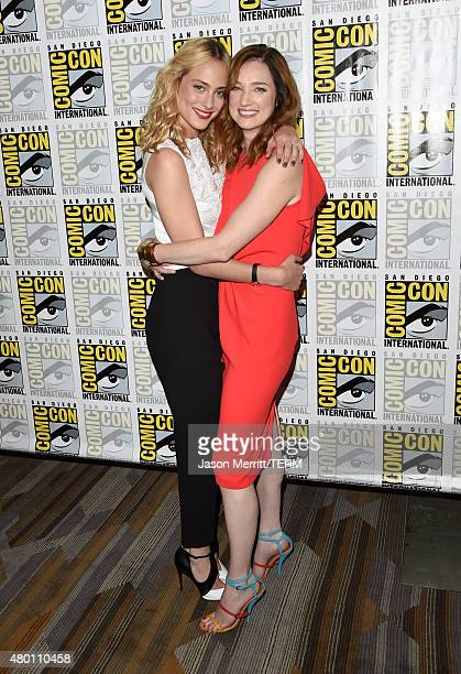 Actresses Nora Arnezeder and Kristen Connolly attend the CBS Television Studios press room during ComicCon International 2015 at the Hilton Bayfront...