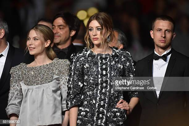 Actresses Nora von Waldstaetten Sigrid Bouaziz and actor Anders Danielsen Lie attend the Personal Shopper Premiere during the annual 69th Cannes Film...