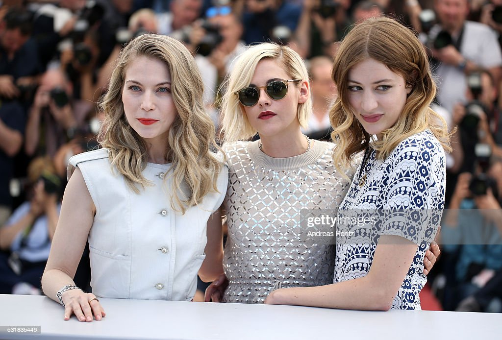 Actresses Nora von Waldstatten, Kristen Stewart and Sigrid Bouaziz attend the 'Personal Shopper' photocall during the 69th annual Cannes Film Festival at the Palais des Festivals on May 17, 2016 in Cannes, France.