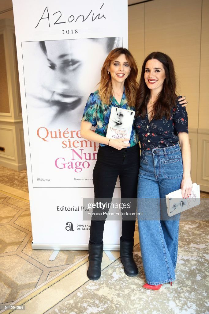 Actresses Nuria Gago and Leticia Dolera attend 'Quiereme Siempre' book presentation as 'Azorin De Novela' Award Winner on April 9, 2018 in Madrid, Spain.