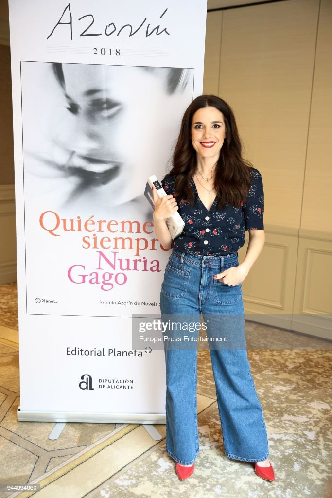 Actresses Nuria Gago attends the presentation of her book 'Quiereme Siempre' book as 'Azorin De Novela' Award Winner on April 9, 2018 in Madrid, Spain.
