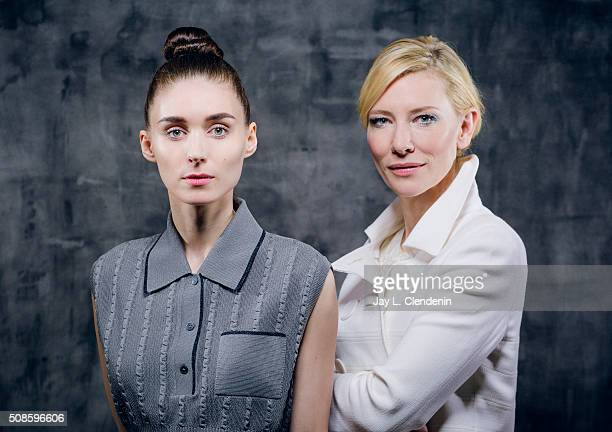 Actresses of the film 'Carol' Cate Blanchett Rooney Mara are photographed for Los Angeles Times on January 8 2016 in Los Angeles California PUBLISHED...