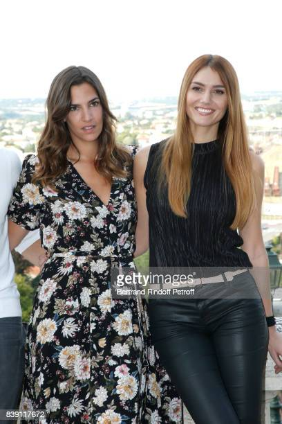 Actresses of the movie 'Epousemoi mon pote' Charlotte Gabris and Nadege Dabrowski aka Andy Raconte attend the 10th Angouleme FrenchSpeaking Film...