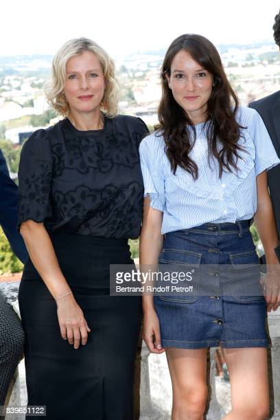 Actresses of the movie 'Jalouse' Karin Viard and Anais Demoustier attend the 10th Angouleme FrenchSpeaking Film Festival Day Five on August 26 2017...