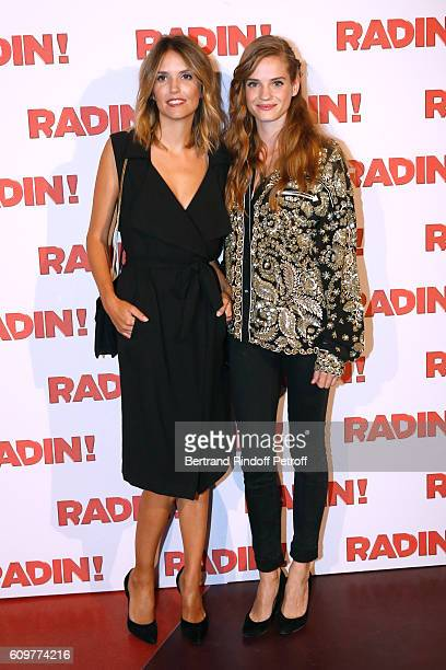 Actresses of the movie Laurence Arne and Noemie Schmidt attend the 'Radin' Paris Premiere at Cinema Gaumont Opera on September 22 2016 in Paris France