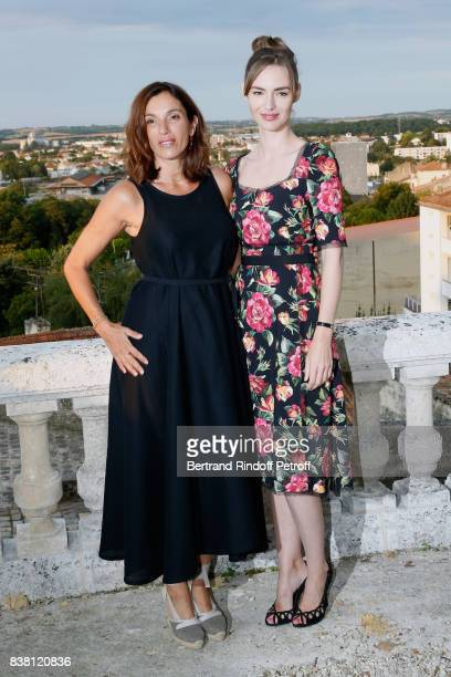 Actresses of the movie L'un dans l'autre Aure Atika and Louise Bourgoin attend the 10th Angouleme FrenchSpeaking Film Festival Day Two on August 23...