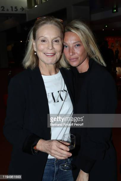 Actresses of the movie Marthe Keller and Laura Smet attend the La Sainte Famille Premiere at UGC Les Halles on December 19 2019 in Paris France