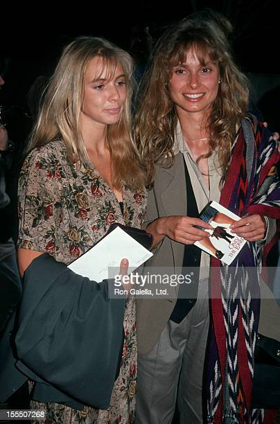 Actresses Olivia d'Abo and Maryam d'Abo attending the screening of Only the Lonely on May 21 1991 at Westwood Avco Theater in Westwood California