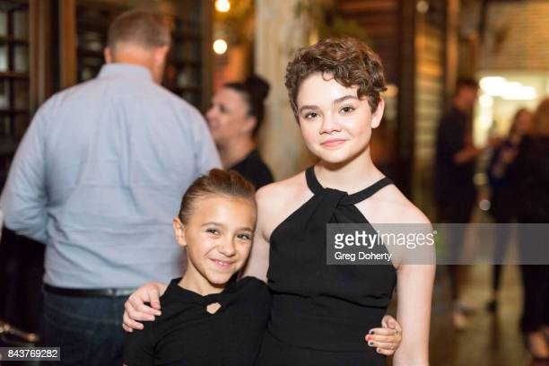 Actresses Olivia Edward and Hannah Alligood attend the Premiere Of FX's Better Things Season 2 After Party on September 6 2017 at the Catch LA in...