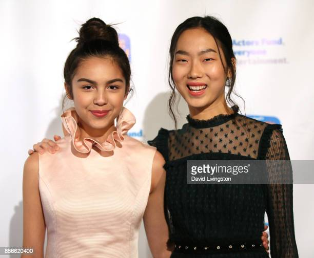 Actresses Olivia Rodrigo and Madison Hu attend The Actors Fund's 2017 Looking Ahead Awards honoring the youth cast of NBC's 'This Is Us' at Taglyan...