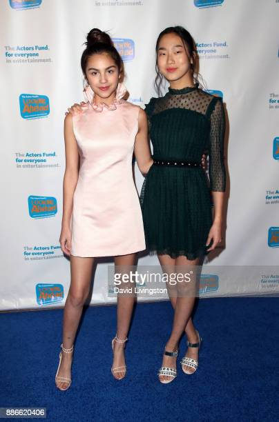 Actresses Olivia Rodrigo and Madison Hu attend The Actors Fund's 2017 Looking Ahead Awards honoring the youth cast of NBC's This Is Us at Taglyan...