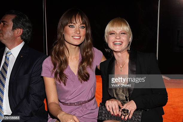 Actresses Olivia Wilde and Ana Layevska attend the Liverpool Fashion Fest Spring/Summer 2011 after party at Liverpool Polanco on February 25 2011 in...