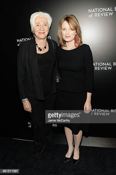 Actresses Olympia Dukakis and Sarah Polley attend the 2014 National Board Of Review Awards Gala at Cipriani 42nd Street on January 7 2014 in New York...