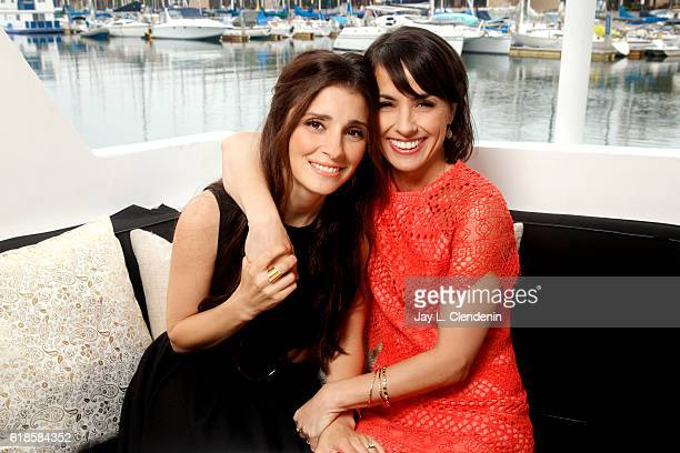 Actresses on Lifetime's 'UnReal' Constance Zimmer and Shiri Appleby are photographed for Los Angeles Times on June 5 2016 in Los Angeles California...