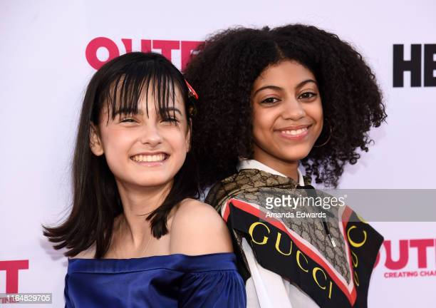 Actresses Oona Yaffe and Arica Himmel arrive at the 2019 Outfest Los Angeles LGBTQ Film Festival Closing Night Gala Premiere of Before You Know It at...