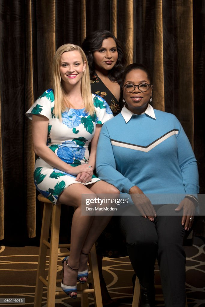 Actresses Oprah Winfrey, Reese Witherspoon and Mindy Kaling are photographed for USA Today on February 25, 2018 in Hollywood, California. PUBLISHED