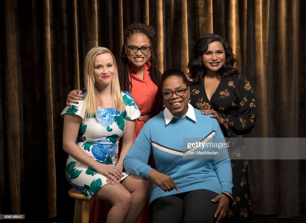 Actresses Oprah Winfrey, Reese Witherspoon, Mindy Kaling and director Ava DuVernay are photographed for USA Today on February 25, 2018 in Hollywood, California. PUBLISHED