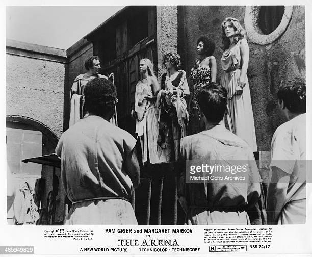 Actresses Pam Grier and Margaret Markov in a scene from the movie The Arena which was released on January 15 1974