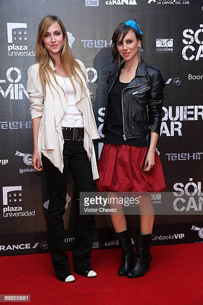 Actresses Pamela Reiter and Alexandra de la Mora attend the premiere of Solo Quiero Caminar at the Cinemex Plaza Universidad on August 17 2009 in...