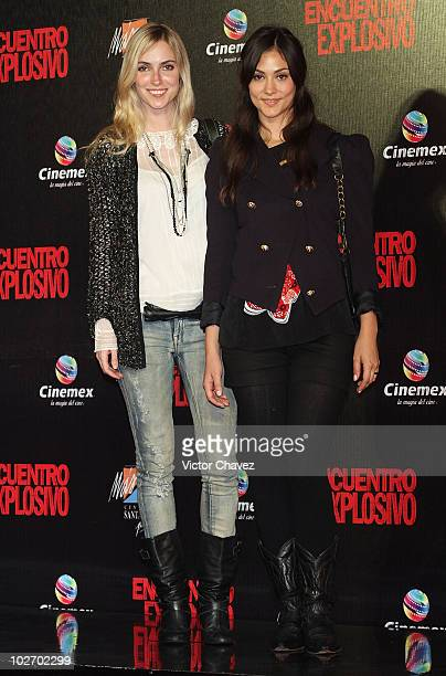 Actresses Pamela Reiter and Diana Garcia attend the premiere of Knight Day at Cinemex Santa Fe on July 7 2010 in Mexico City Mexico