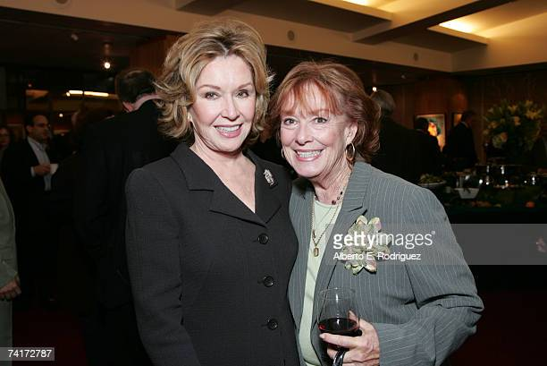 Actresses Pat Crowley and Gigi Perreau attend the AMPAS Centennial Celebration for Barbara Stanwyck on May 16 2007 in Los Angeles California