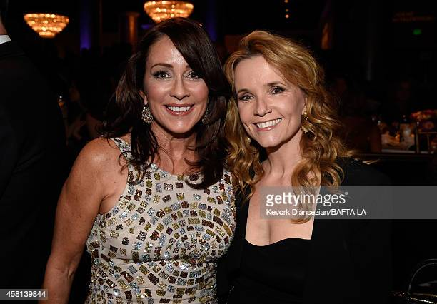 Actresses Patricia Heaton and Lea Thompson attend the BAFTA Los Angeles Jaguar Britannia Awards presented by BBC America and United Airlines at The...