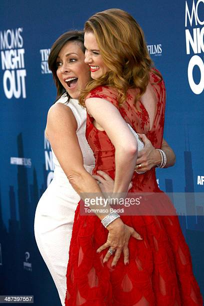 Actresses Patricia Heaton and Sarah Drew attend the 'Mom's Night Out' Los Angeles premiere held at the TCL Chinese Theatre IMAX on April 29 2014 in...