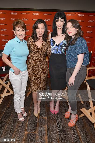 Actresses Patricia Heaton Fran Drescher Krysten Ritter and Kat Dennings attend Day 1 of the Variety EMMY studio sponsored by Motorola on May 30 2012...