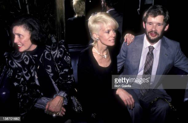 Actresses Patricia Neal Joey Heaterton and David Cole attend Love Leads The Way Seeing Eye Benefit Party on September 24 1984 at the Rainbow Room in...
