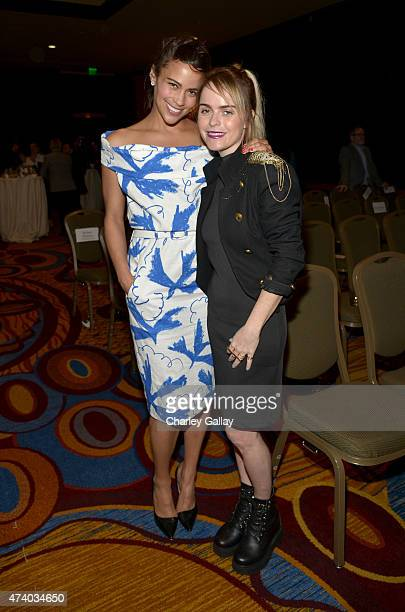 Actresses Paula Patton and Taryn Manning attend The Marriott Content Studio's French Kiss film premiere at the Marina del Rey Marriott on May 19 2015...