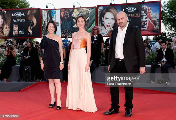 Actresses Paulina García Valentina Muhr and director Moises Sepulveda attend 'La Jalousie' Premiere during the 70th Venice International Film...