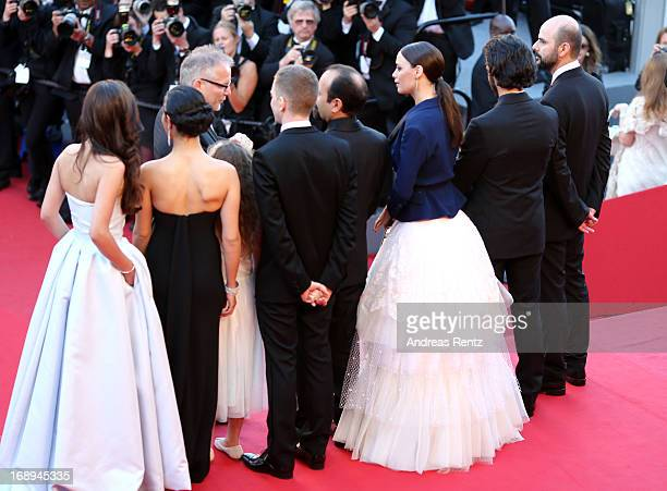 Actresses Pauline Burlet and Sabrina Ouazani Cannes Film Festival artistic director Thierry Fremaux actress Jeanne Jestin producer Alexandre...