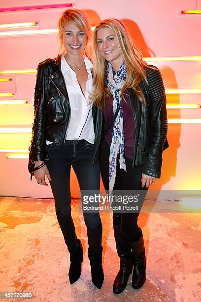 Actresses Pauline Lefevre and Cecile Belin attend the 'Studio Des Acacias' from Mazarine Group Opening Party with the Mark Handforth 'Drop Shadow'...