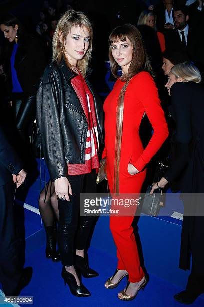 Actresses Pauline Lefevre and Frederique Bel attend the ETAM show as part of the Paris Fashion Week Womenswear Fall/Winter 2015/2016 Held at Piscine...