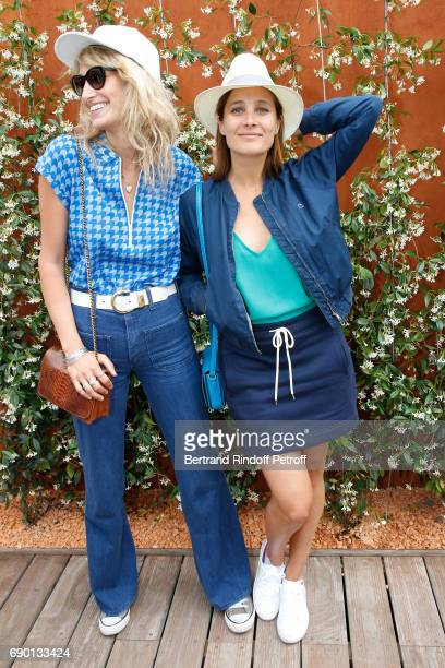 Actresses Pauline Lefevre and Julie de Bona attend the 2017 French Tennis Open - Day Three at Roland Garros on May 30, 2017 in Paris, France.