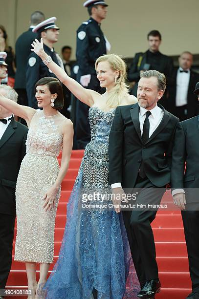 Actresses Paz Vega Nicole Kidman and actor Tim Roth attend the Opening Ceremony and the 'Grace of Monaco' premiere during the 67th Annual Cannes Film...