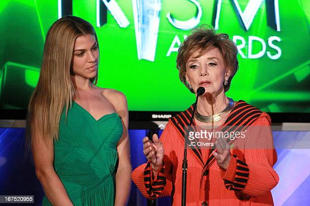 Actresses Peggy McCay and Kate Mansi speak during the 17th Annual Prism Awards at Beverly Hills Hotel on April 25 2013 in Beverly Hills California