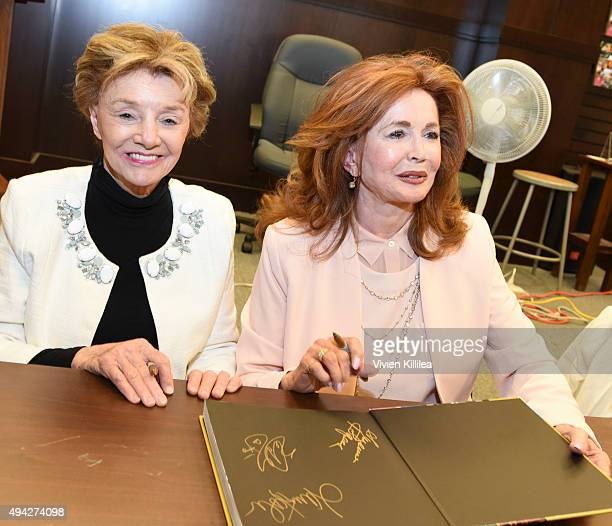 Actresses Peggy McCay and Suzanne Rogers attend the Days of Our Lives book signing at Barnes and Noble at The Grove on October 25 2015 in Los Angeles...