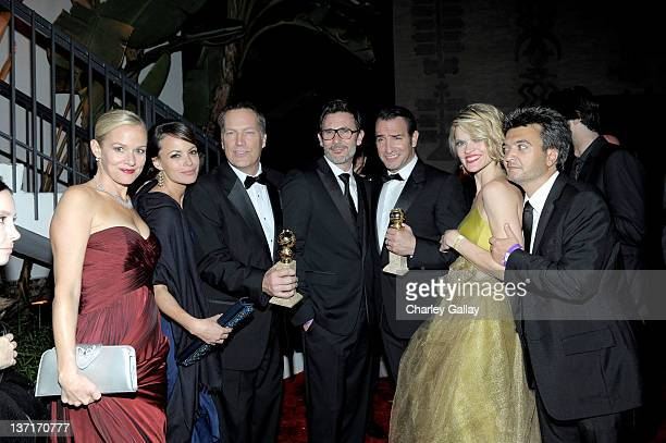 Actresses Penelope Ann Miller and Berenice Bejo, guest, director Michel Hazanavicius, actors Jean Dujardin and Missi Pyle, and producer Thomas...