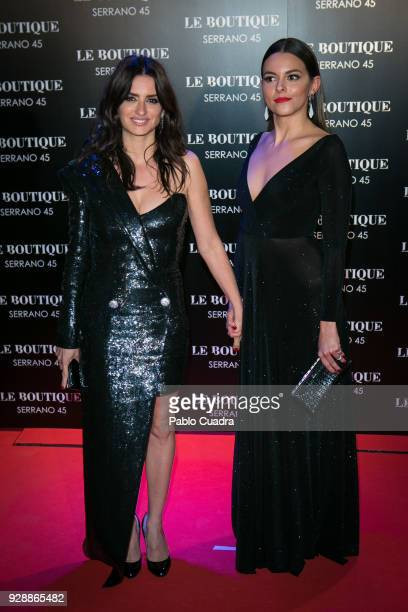 Actresses Penelope Cruz and Julieth Restrepo attend the after party of 'Loving Pablo' premiere at Le Boutique Club on March 7 2018 in Madrid Spain
