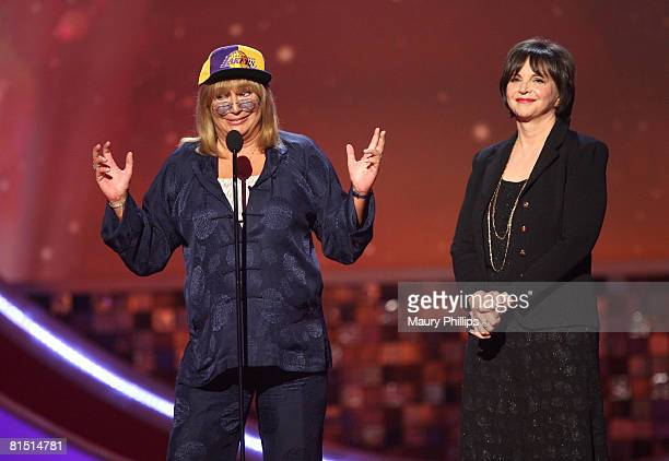 Actresses Penny Marshall and Cindy Williams present onstage during the 6th annual TV Land Awards held at Barker Hangar on June 8 2008 in Santa Monica...