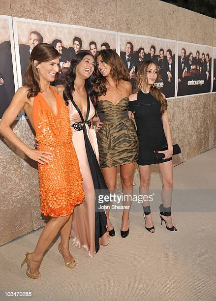 Actresses Perrey Reeves Emmanuelle Chriqui JamieLynn Sigler and Alexis Dziena arrive on the red carpet of the Los Angeles premiere of the six season...