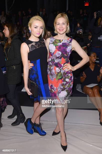 Actresses Peyton List and Kelly Rutherford attend the Nanette Lepore fashion show during MercedesBenz Fashion Week Fall 2014 at The Salon at Lincoln...