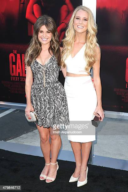 Actresses Pfeifer Brown and Cassidy Gifford attend the premiere of New Line Cinema's 'The Gallows' at Hollywood High School on July 7 2015 in Los...