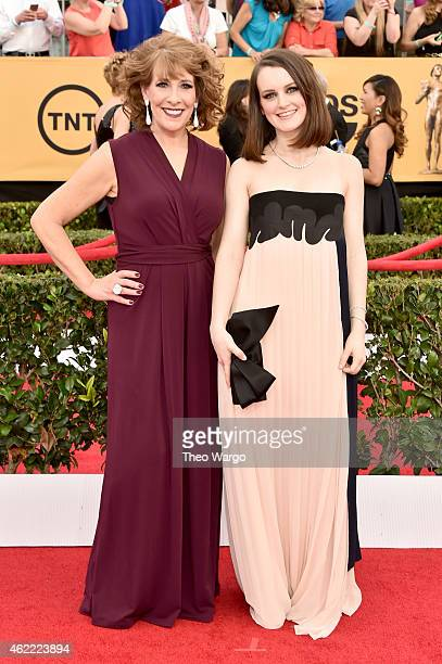 Actresses Phyllis Logan and Sophie McShera attend TNT's 21st Annual Screen Actors Guild Awards at The Shrine Auditorium on January 25 2015 in Los...