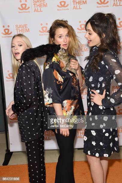 Actresses Portia Doubleday Grace Gummer and Emmy Rossum attend the 2017 Best Friends Benefit To Save Them All on April 3 2017 in New York City