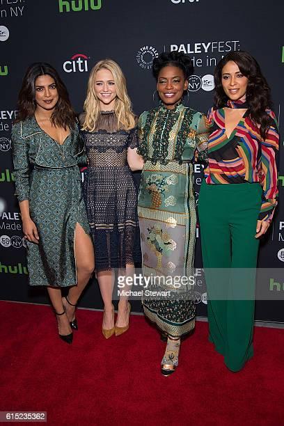 Actresses Priyanka Chopra Johanna Braddy Aunjanue Ellis and Yasmine al Massri attend PaleyFest New York 2016 presents Quantico at The Paley Center...