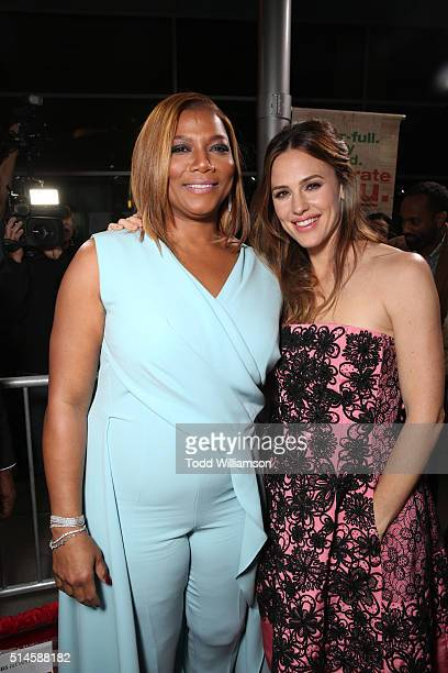 Actresses Queen Latifah and Jennifer Garner attend the premiere of Columbia Pictures' Miracles From Heaven at ArcLight Hollywood on March 9 2016 in...