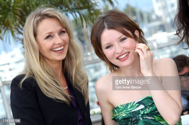 Actresses Rachael Blake and Emily Browning attend the Sleeping Beauty Photocall during the 64th Cannes Film Festival at the Palais des Festivals on...